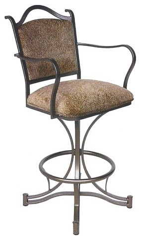 """Cambridge 30"""" Swivel Stool w/ Arms - Modern - Bar Stools And Counter Stools"""