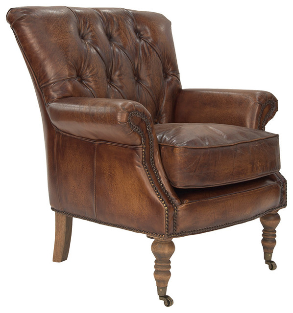 Clerkenwell Armchair in Antique Leather - Traditional ...