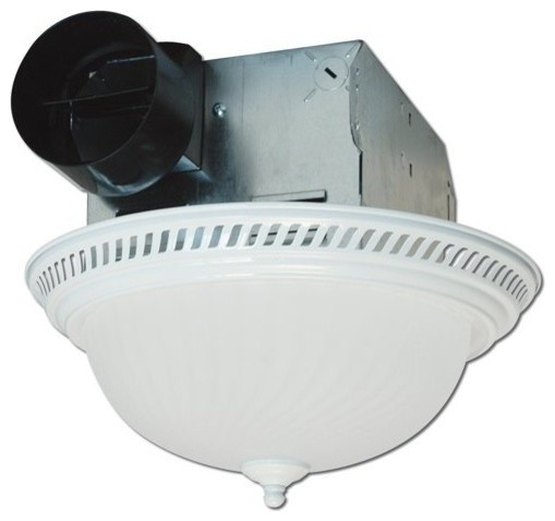 Decorative round quiet exhaust bath fan with light 70 cfm - Round bathroom exhaust fan with light ...