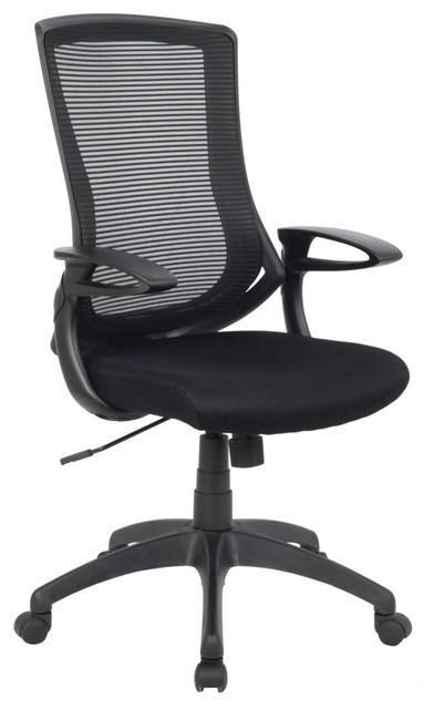 Back adjustable mesh office chair black contemporary office chairs