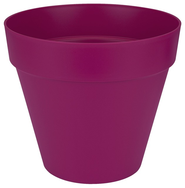 poft cache pot d40cm cerise en plastique elho contemporain pot et jardini re d 39 ext rieur. Black Bedroom Furniture Sets. Home Design Ideas