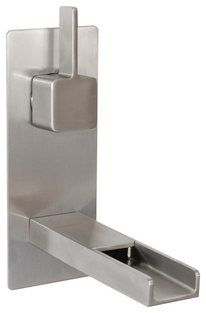 Cascada Waterfall Wall Mount Faucet Brushed Nickel