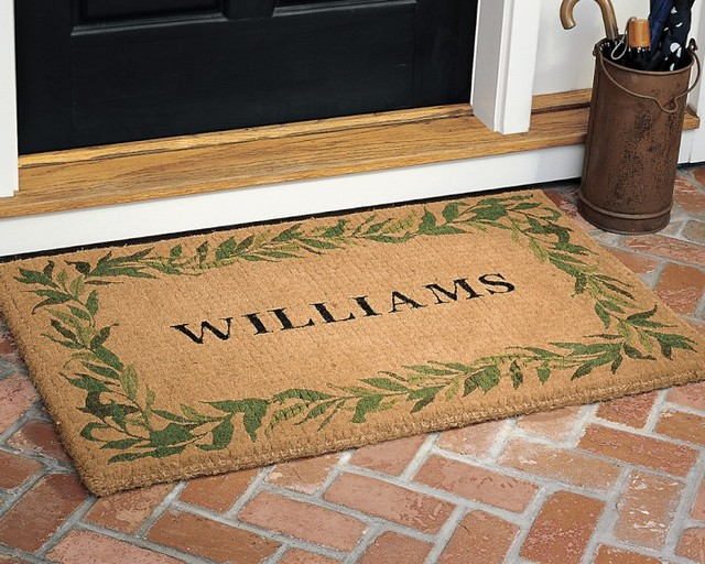 Personalized Bay Leaf Coir Doormat Traditional