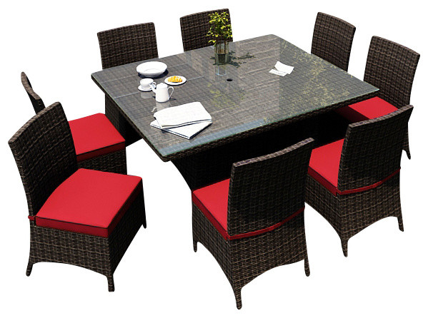 9 piece square patio dining set 2