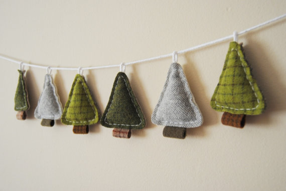 Woodland Holiday Garland Primitive Christmas Pine Trees  : contemporary wreaths and garlands from www.houzz.com size 570 x 382 jpeg 38kB