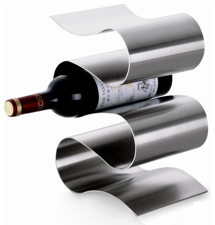 Opal Stainless Steel Decor Lavina 39 Wine Stand Modern