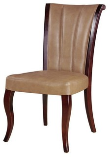 channel leather dining chairs set of 2 contemporary