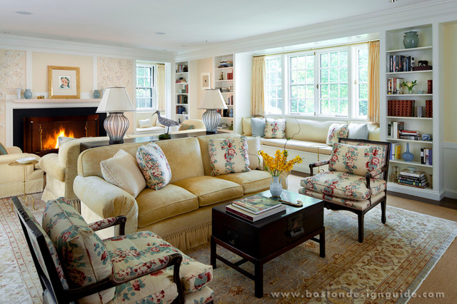 Susan Reddick Design Traditional Living Room Boston