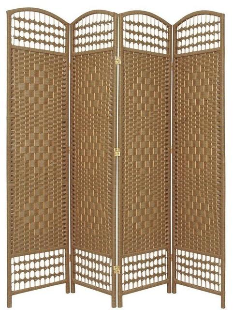 5 1 2 Ft Tall Fiber Weave Room Divider Natural 4