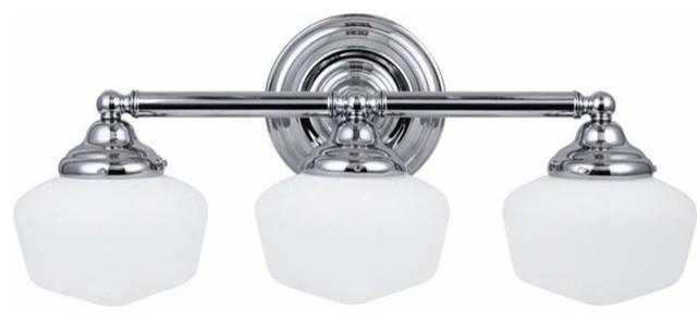 Yosemite Home Decor Vanity Lighting Family 4 Light Chrome: 3-Light Wall / Bath Chrome (includes Bulbs) Traditional