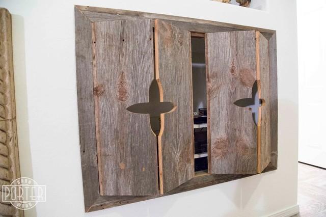 Cabinets - Reclaimed Pine Bi-Fold Cabinet Doors - Southwestern - Media Cabinets - phoenix - by ...