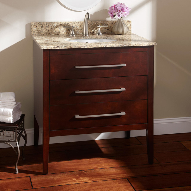 30 Wiley Walnut Vanity For Undermount Sink Modern