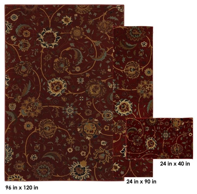 Modern Indoor Outdoor Mohawk Home Rugs Cordella Crimson 8