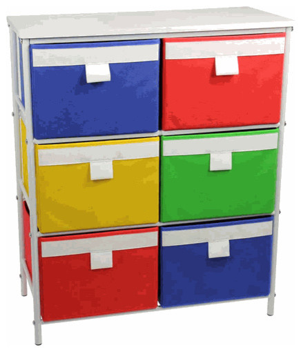 white storage drawer with six bins and two removable. Black Bedroom Furniture Sets. Home Design Ideas
