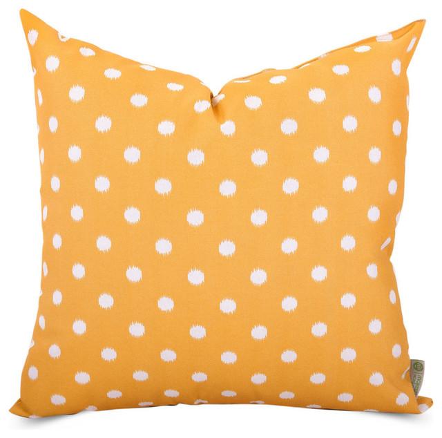Outdoor Ikat Dot Pillow Contemporary Outdoor