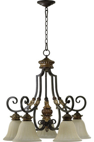Quorum International One Five Five Light Down Lighting Nook Chandelier From The Ca Traditional