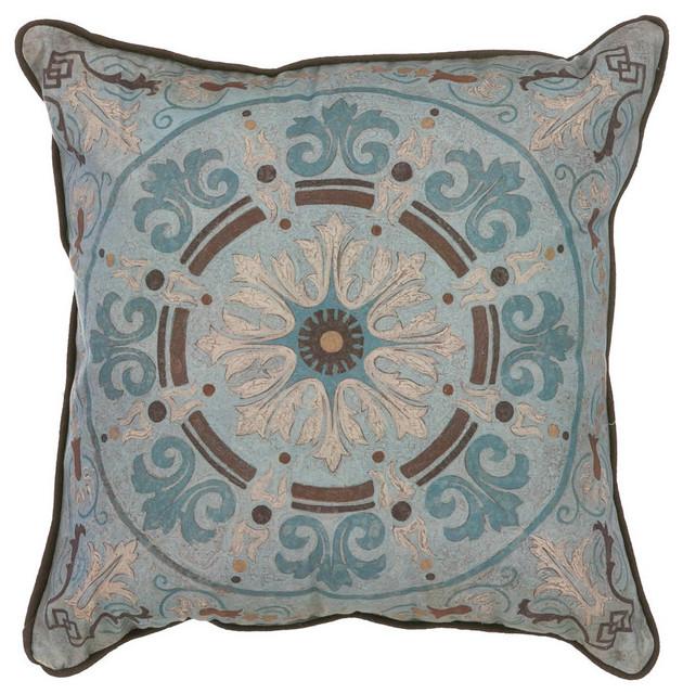 Blue Medallion Throw Pillows : Blue Medallion Pillow traditional-decorative-pillows
