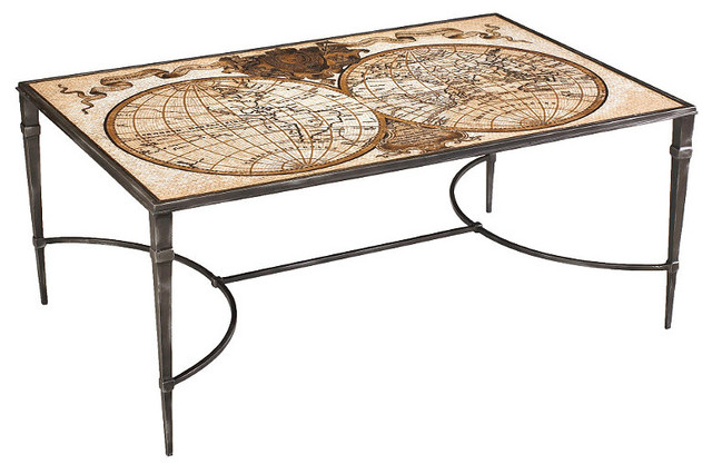 Ardenay Mosaic World Map Cocktail Table Contemporary Coffee Tables By Frontgate
