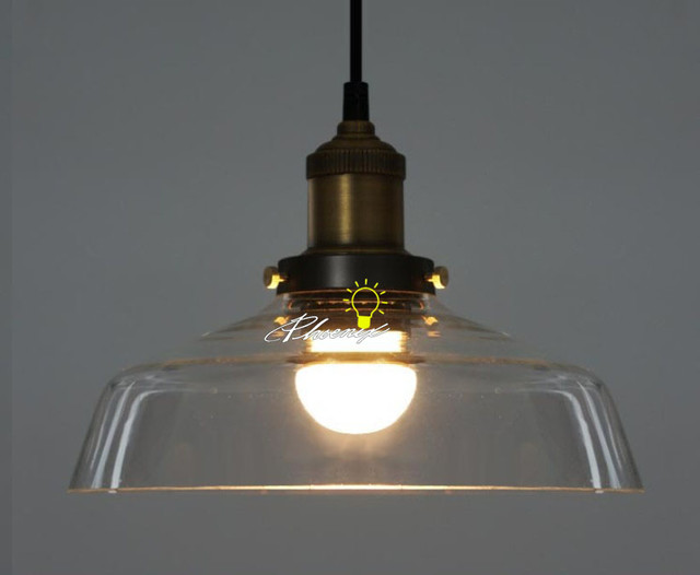 Industrial Copper And Glass Pendant Lighting