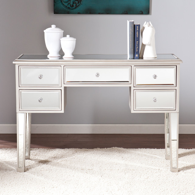 Upton Home Monroe Mirrored Console Table Contemporary Console Tables By
