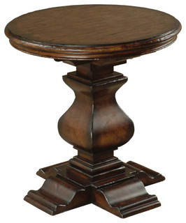 Aspen Round End Table Traditional Side Tables And End