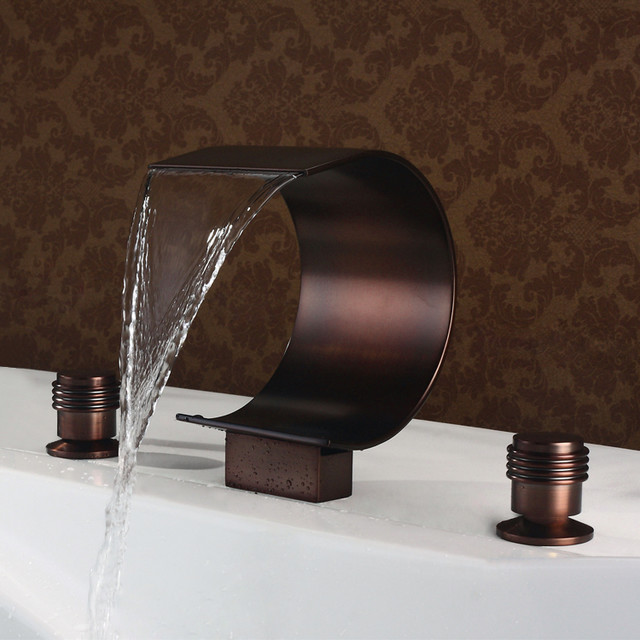 waterfall roman tub faucet oil rubbed bronze modern bathtub faucets