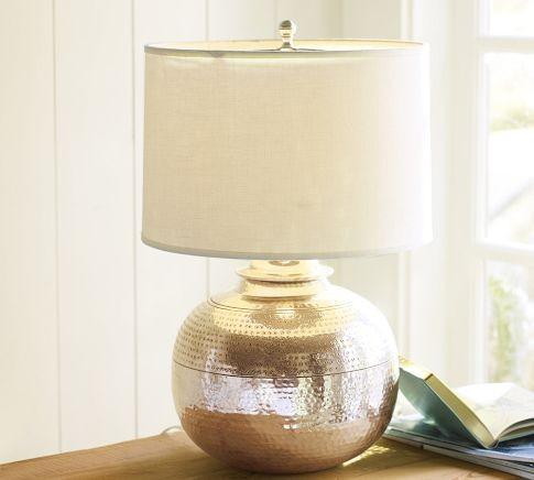 Pierce bedside lamp modern table lamps by pottery barn for Modern bedside table lamps