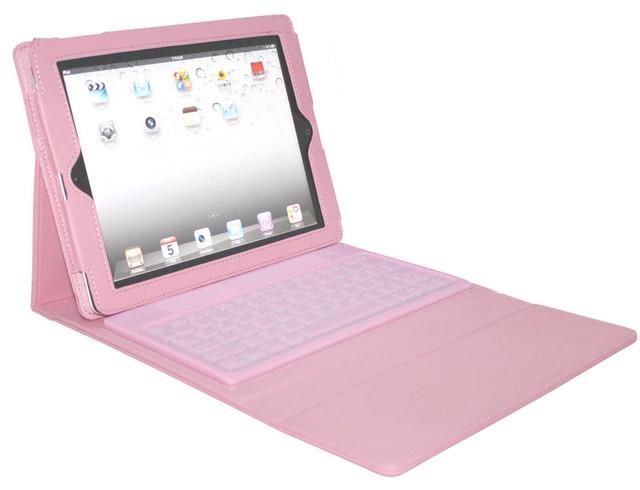 2COOL iPad Portfolio with Bluetooth Keyboard Pink