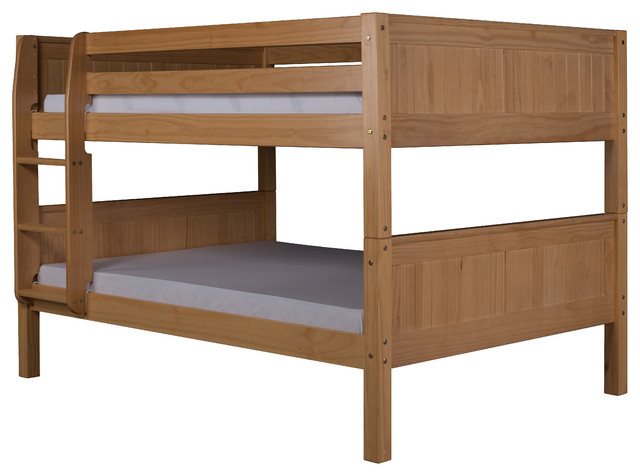 Camaflexi Full Over Full Low Bunk Bed Panel Headboard