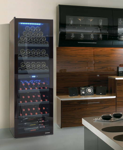 Butler series 154 bottle wine cooler modern beer and for Beer and wine cooler table