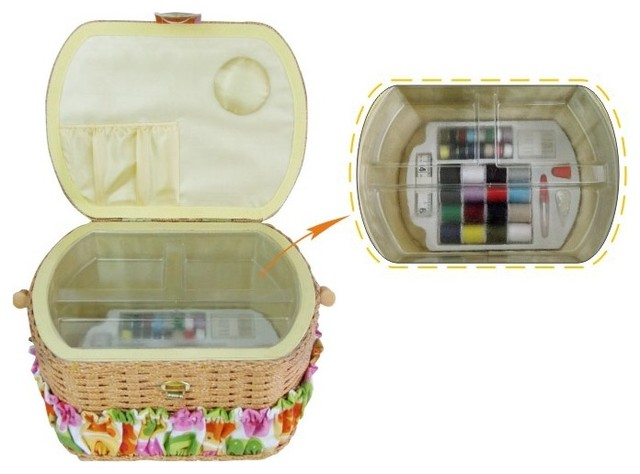 Lil Sew and Sew FS095 Sewing Basket with 42-Piece Sewing ...