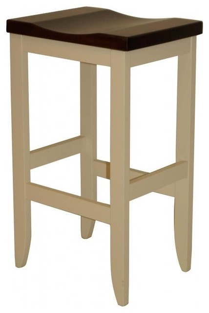 Handcrafted Amish Mission Barstool In Solid Brown Maple 30