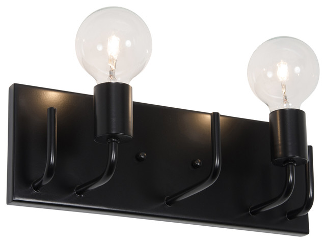 Socket to Me 2-Light Vanity, Black - Bathroom Vanity Lighting - by Varaluz