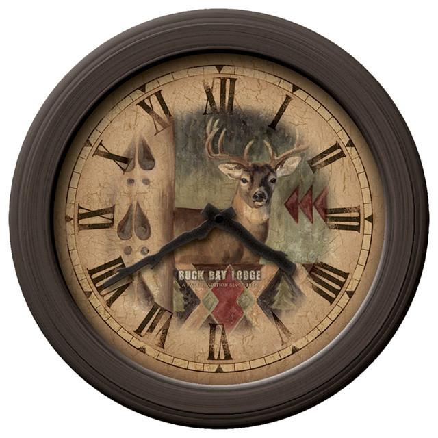 buck bronze wall clock rustic wall clocks by firstime manufactory