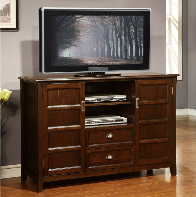 ... Brown Tall TV Stand contemporary-entertainment-centers-and-tv-stands