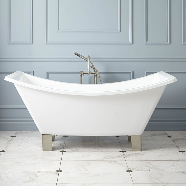66 Quot Catherine Acrylic Double Slipper Footed Tub Modern