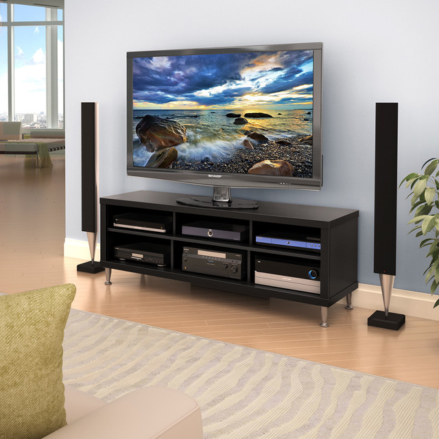 Valhalla Broadway Black 55-inch TV Stand - Contemporary - Entertainment Centers And Tv Stands ...