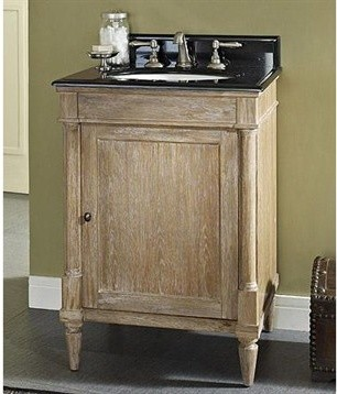 Perfect Rustic Chic 20quot Vanity Amp Sink Set  Weathered Oak  Modern  Bathroo