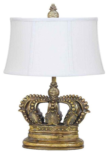 Crown Table Lamp Traditional Table Lamps By Shopladder