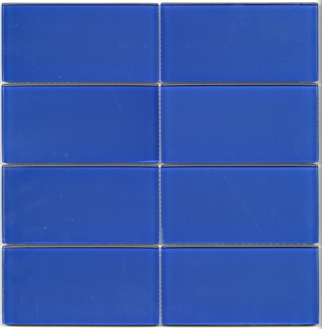 Light blue glass subway tile