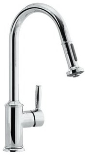 hansgrohe single handle pullout spray kitchen faucet