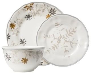 Threshold Snowflake Scallop 12 Piece Dinnerware Set White
