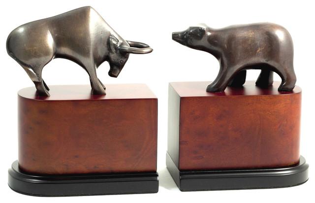Bull Bear Bookends Modern Bookends By Bey Berk International