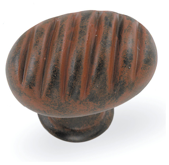 "1 3/8"" Oval Milan Knob - Rust - Mediterranean - Cabinet And Drawer Knobs - by Laurey"