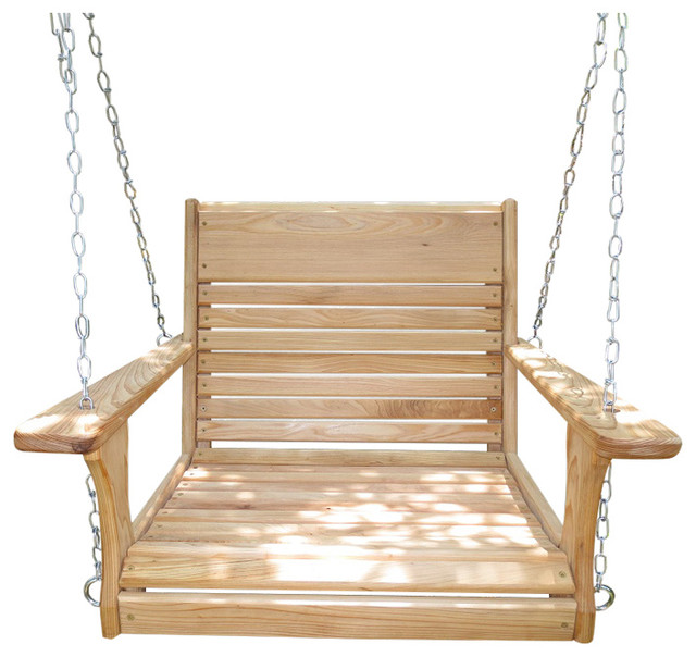 Adult chair swing with hanging kit traditional Wood tree swing and hanging kit
