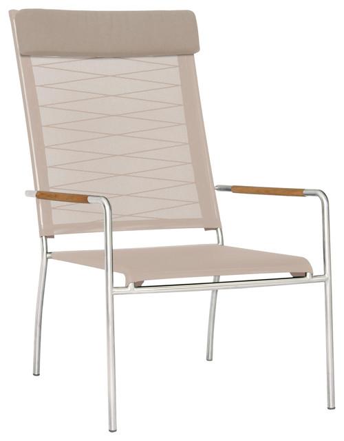 Mamagreen Natun Hemp High Back Chair Modern Outdoor Lounge Chairs by Vi