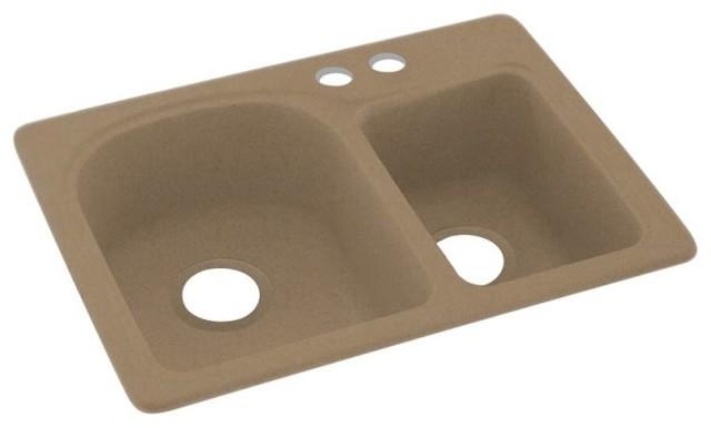 Swan 18x25x7 Solid Surface Kitchen Sink 4 Hole Kitchen