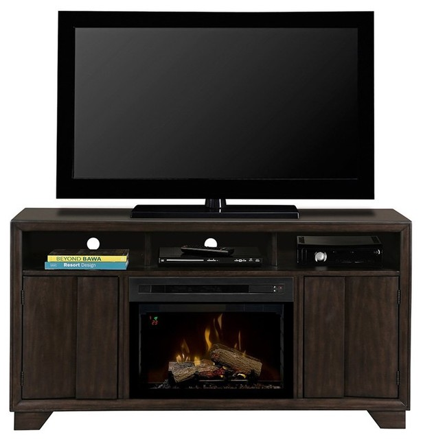 Dimplex bayne entertainment center electric fireplace gds25ld 1411byg contemporary - Contemporary electric fireplaces entertainment center ...