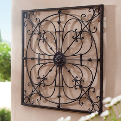 Gabriella Iron Wall Art Traditional Outdoor Wall Art