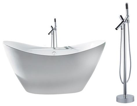Akdy 67 europe style white acrylic free standing bathtub for European steel enamel bathtub